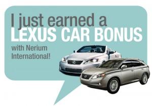 Ann just eanred her nerium lexus car bonus